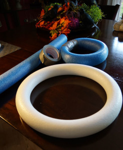 Pool Noodles for Wreaths