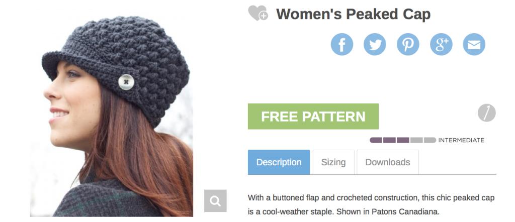 Women's Peaked Hat