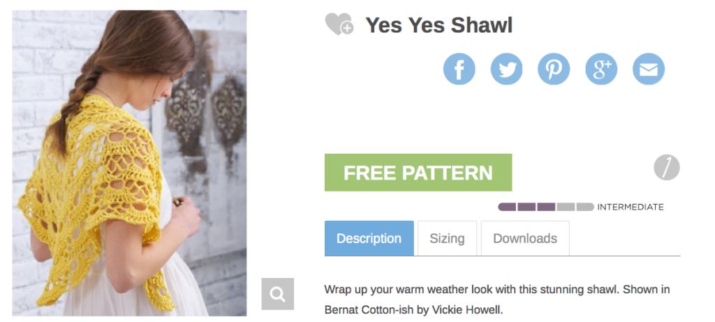 Yes, Yes Shawl